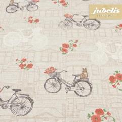 Baumwolle beschichtet strukturiert Bicycle natur III