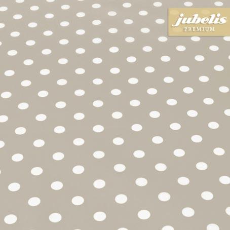 Baumwolle beschichtet abwaschbar kleine Punkte beige III 120 cm x 140 cm