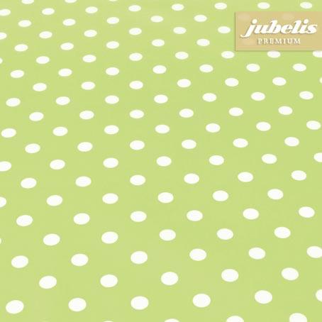 Baumwolle beschichtet abwaschbar kleine Punkte hellgrün III