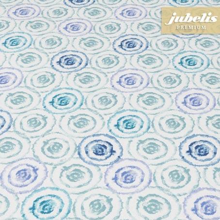 Baumwolle beschichtet strukturiert Aquarell blau III
