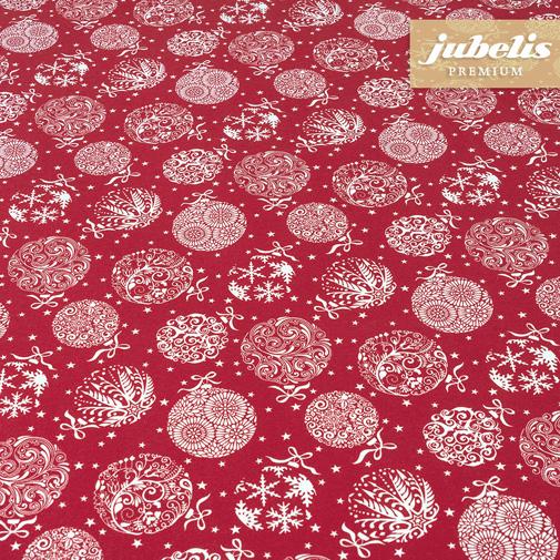 Baumwolle beschichtet strukturiert Christmas Baubles rot III