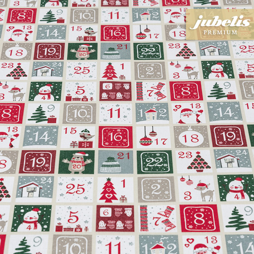 Baumwolle beschichtet strukturiert Christmas Calendar III