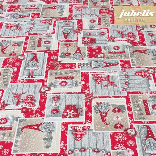 Baumwolle beschichtet strukturiert Christmas Elf rot III