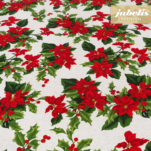 Baumwolle beschichtet strukturiert Christmas Star natur III