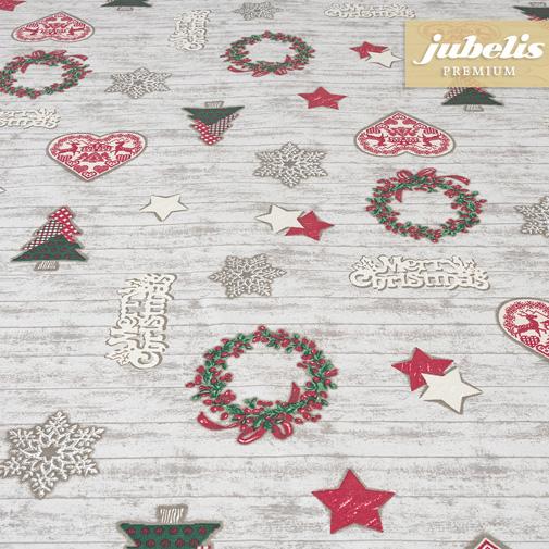 Baumwolle beschichtet strukturiert Merry Christmas III 110 cm x 140 cm Küchentisch
