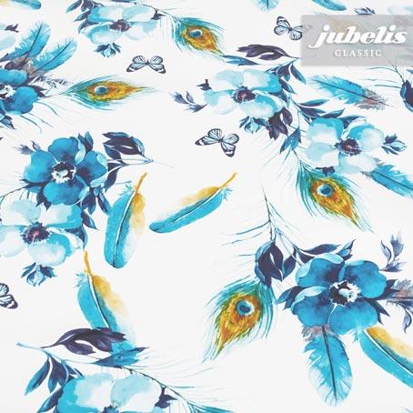 Wachstuch Pfauenauge blau P 200 cm x 140 cm