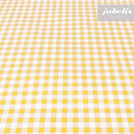 Wachstuch kariert gelb klein II 240 cm x 140 cm für Biertische (auf Wunsch geteilt = 2 Decken)