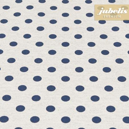 Baumwolle beschichtet strukturiert kleine Punkte dunkelblau III 100 cm x 140 cm