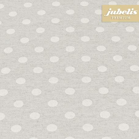 Baumwolle beschichtet strukturiert kleine Punkte natur III 110 cm x 140 cm Küchentisch