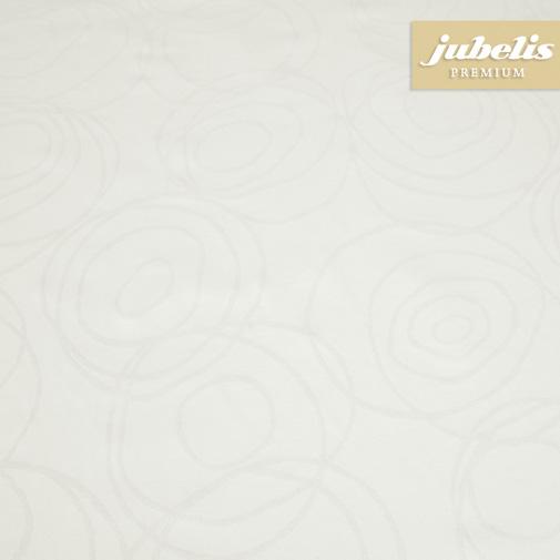 Textiler Luxus-Tischbelag Lana cremeweiß III