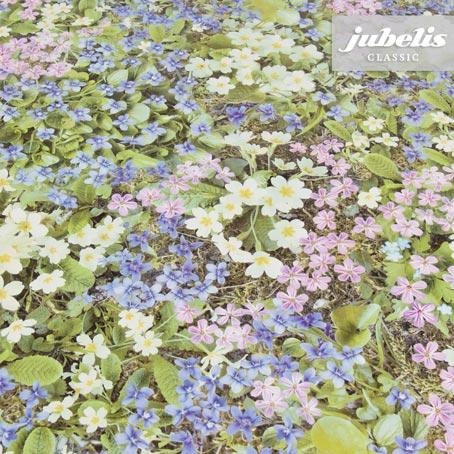Wachstuch Fotodruck Blüten pastell I 140 cm x 140 cm