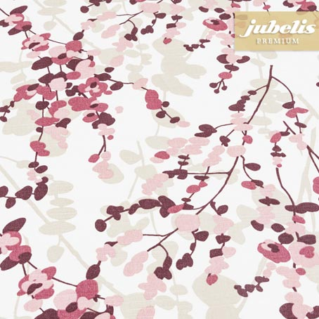 Baumwolle beschichtet strukturiert Yuna rosa-violett III 110 cm x 140 cm Küchentisch