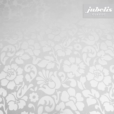 Wachstuch Barock floral silber H 180 cm x 140 cm