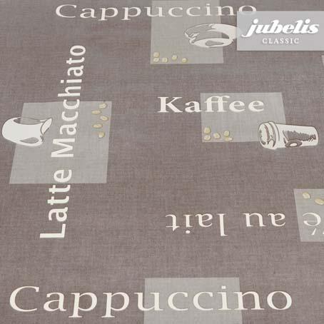 Wachstuch Cappuccino braun H 190 cm x 140 cm