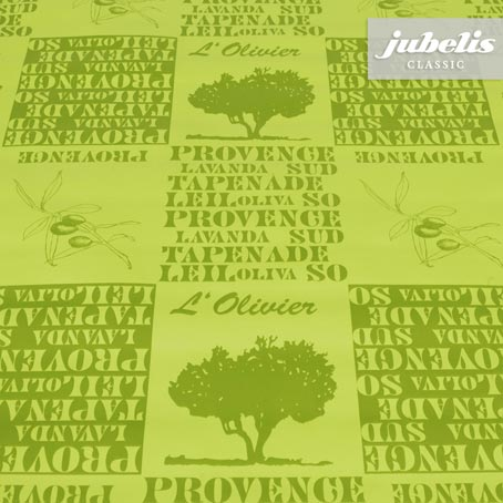 Wachstuch Provence grün H 170 cm x 140 cm