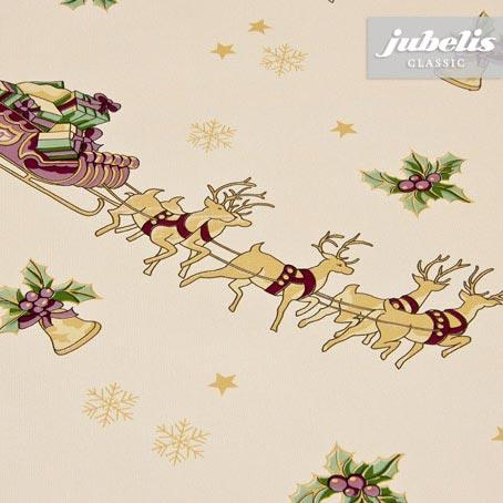 Wachstuch Weihnachten Rentier-Schlitten M 100 cm x 140 cm