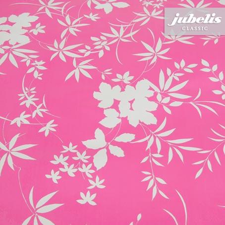 Wachstuch Blatt-Muster pink P