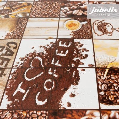 Wachstuch Kaffee II 110 cm x 140 cm Küchentisch