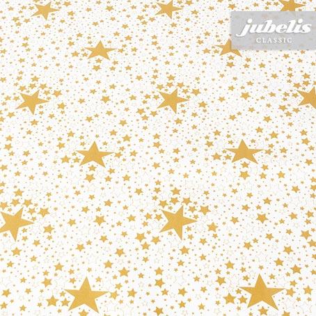 Wachstuch Sterne gold P 100 cm x 140 cm