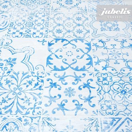 Wachstuch Visbi blau H 100 cm x 140 cm
