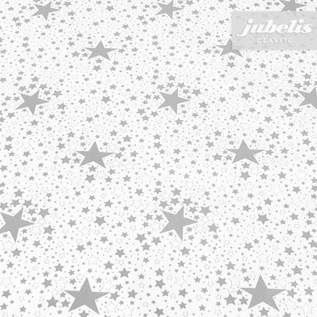 Wachstuch Sterne silber P 190 cm x 140 cm