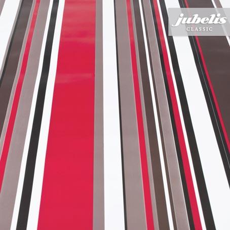 Wachstuch Streifen schwarz-rot-weiß I 180 cm x 140 cm
