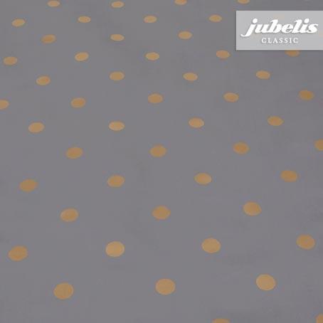 Wachstuch Puntos anthrazit I 240 cm x 140 cm für Biertische (auf Wunsch geteilt = 2 Decken)