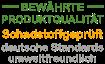 schadstoffgeprüft, deutsche Standards